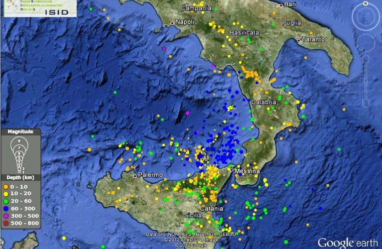 Terremoto profondo alle Isole Eolie, 29 settembre ore 02:39 – Magnitudo 4.2