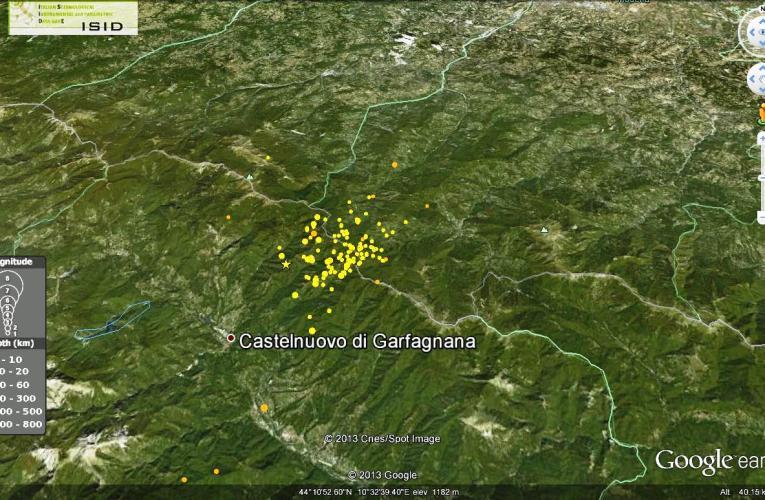 Aggiornamento sulla sequenza sismica in Garfagnana (provincia di Lucca): 26 gennaio ore 12.00