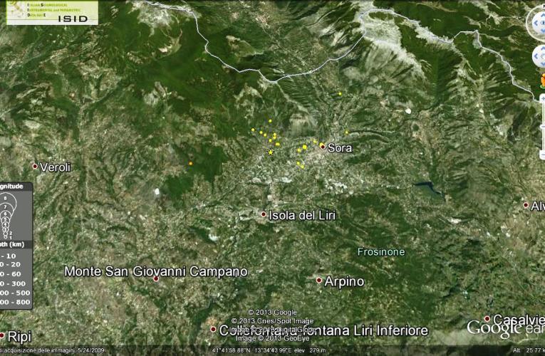 Aggiornamento terremoto in provincia di Frosinone, M4.8, 16 febbraio ore 22.16