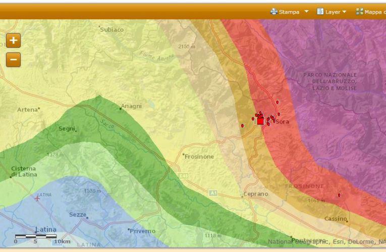 Terremoto in provincia di Frosinone, M4.8, 16 febbraio 2013 ore 22.16: approfondimento