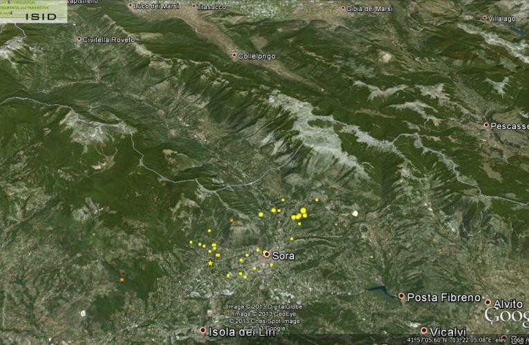Aggiornamento sulla sequenza sismica in provincia di Frosinone: 23 febbraio ore 19.00