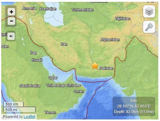 Terremoto in Iran del 16 aprile 2013, M 7.8