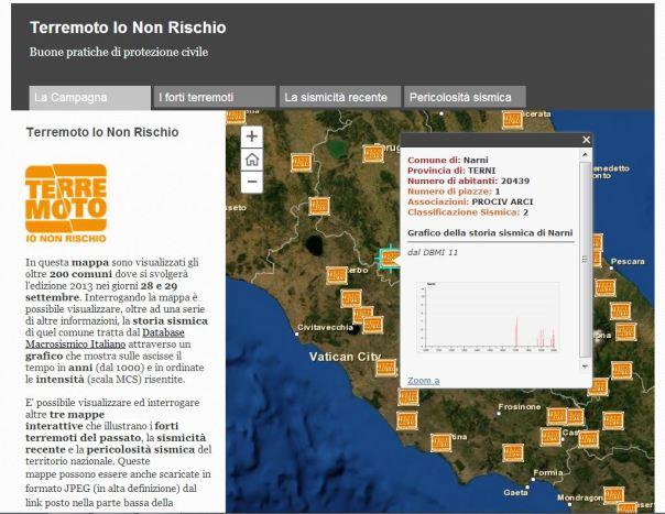 Le mappe interattive sul sito www.iononrischio.it