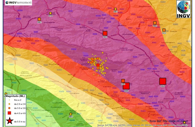 Aggiornamento sequenza tra le province di Caserta e Benevento, 30 dicembre ore 09.00