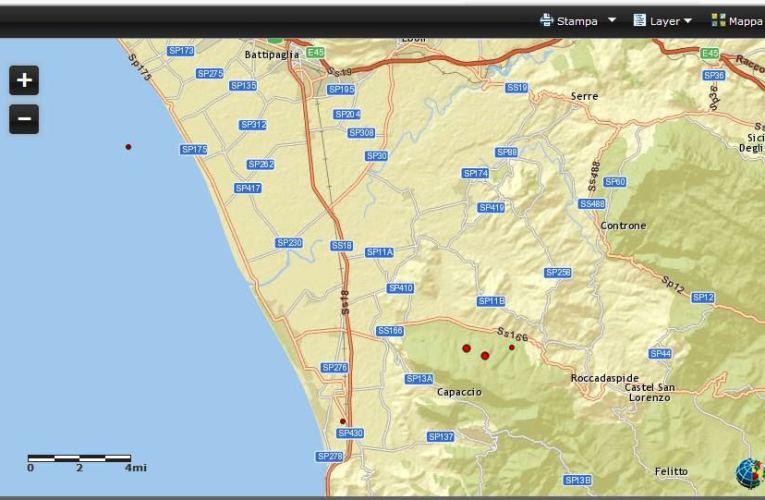Due eventi sismici in provincia di Salerno, M 3.7, 22 gennaio