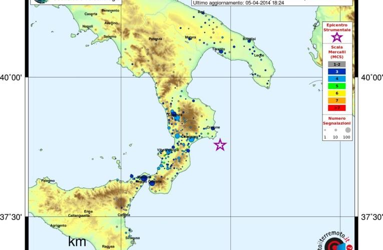 Terremoto nel Mar Ionio, M 5.0, 5 aprile 2014: approfondimento