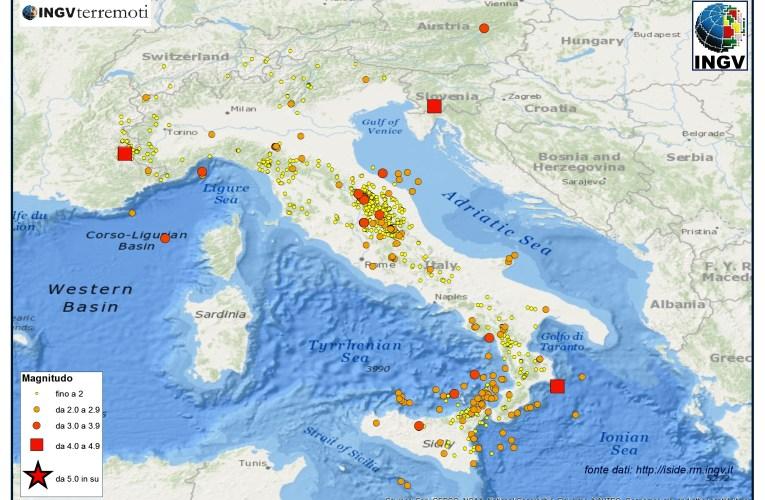 Italia sismica: i terremoti di aprile 2014