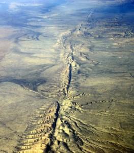 La faglia di San Andreas in California