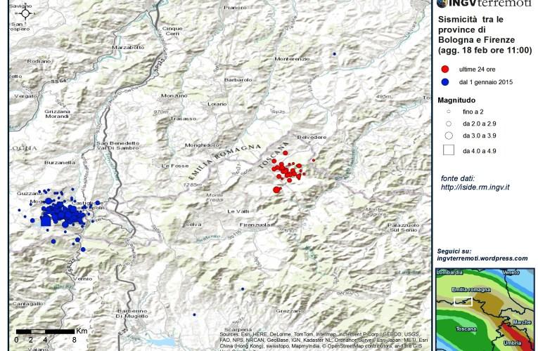 Eventi sismici tra le province di Firenze e Bologna: aggiornamento