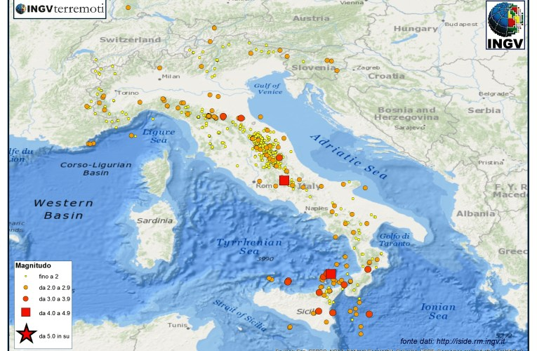 Italia sismica: i terremoti di febbraio 2015