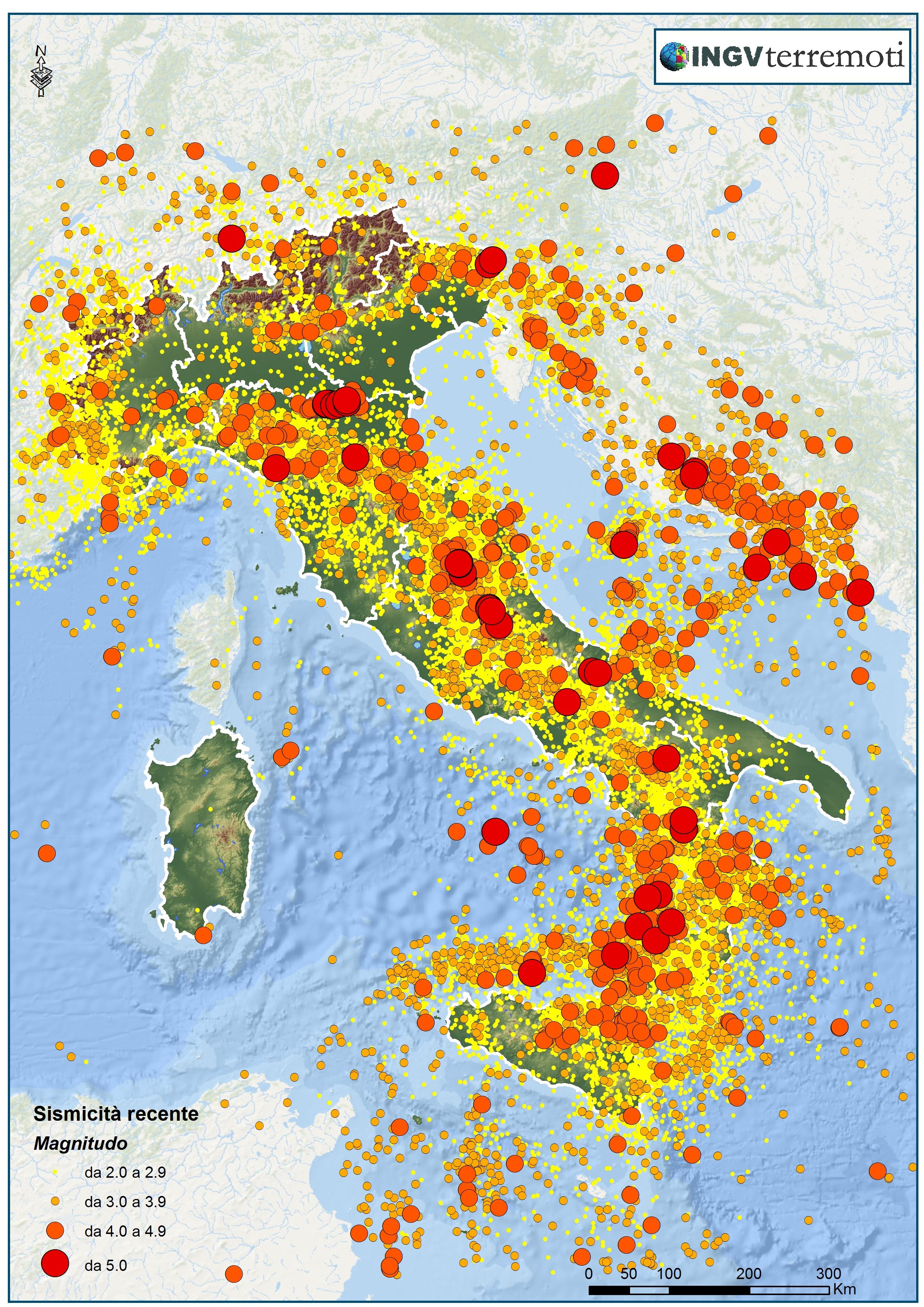 Cartina Zone Sismiche Italia.I Terremoti In Italia Ingvterremoti