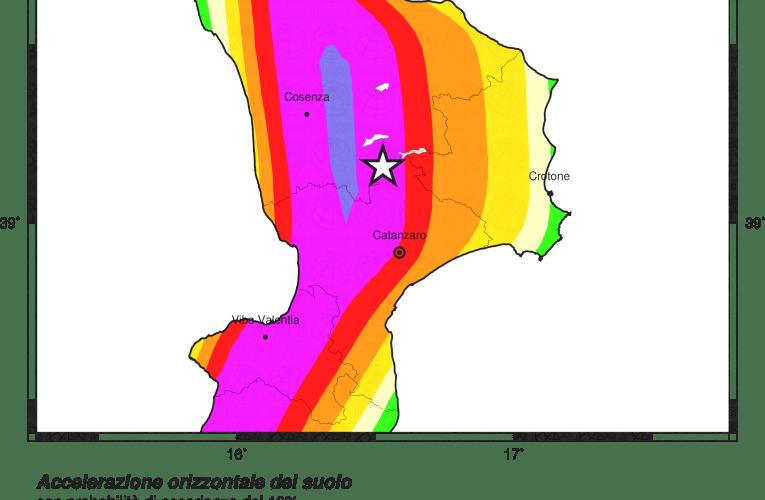 Evento sismico tra le province di Cosenza, Catanzaro e Crotone, Ml 4.1, 3 agosto ore 9.27