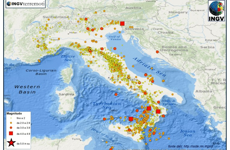Italia sismica: i terremoti dell'estate 2015