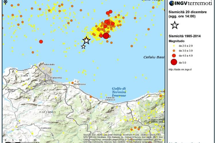 Evento sismico al largo della costa siciliana centro settentrionale (Palermo), Ml 4.0, 20 dicembre: aggiornamento e approfondimento