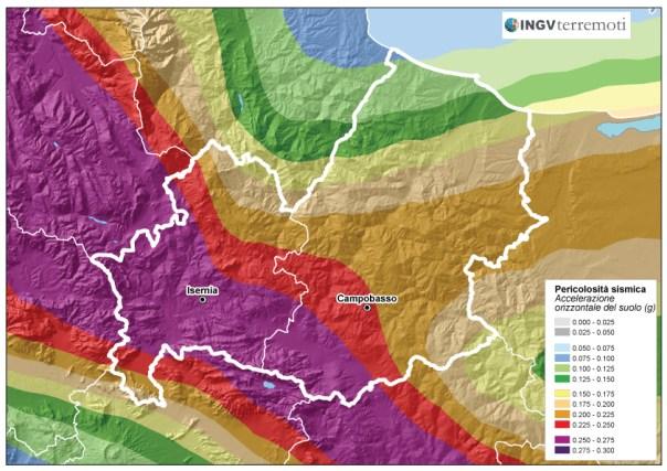 La pericolosità sismica in Sicilia (fonte: zonesismiche.mi.ingv.it).