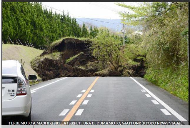 Eventi sismici del 15 aprile 2016 (M 7.0) in Giappone e del 16 aprile (M 7.8) in Ecuador