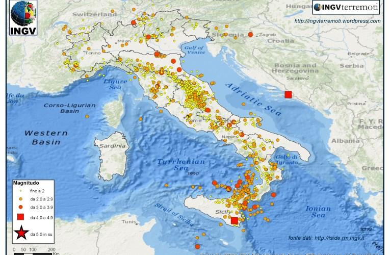 Italia sismica: i terremoti di febbraio, marzo e aprile 2016