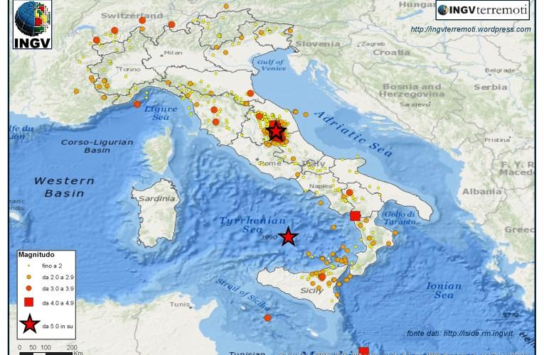 Italia sismica: i terremoti di ottobre 2016