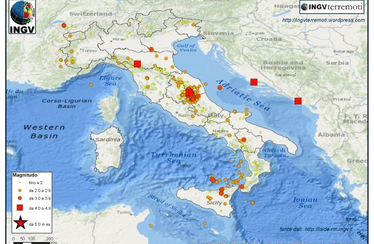 Italia sismica: i terremoti di novembre e dicembre 2016