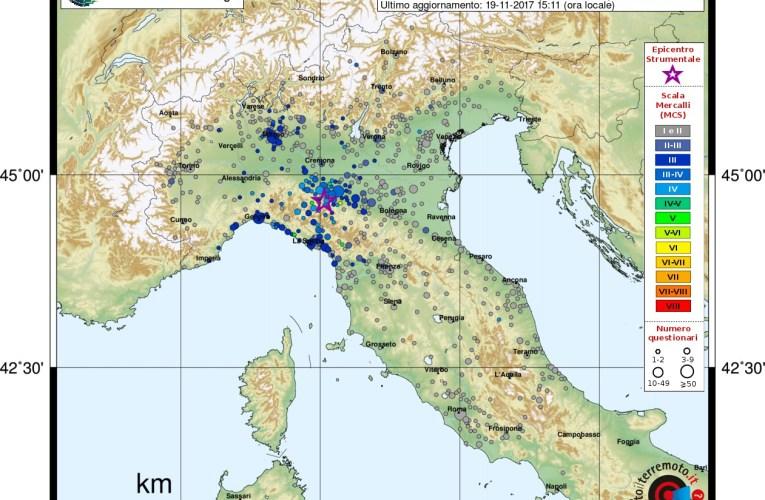 Terremoti in provincia di Parma, 19 novembre 2017