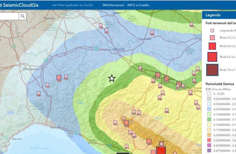 Evento sismico in provincia di Piacenza, Ml 4.3, 19 maggio 2018