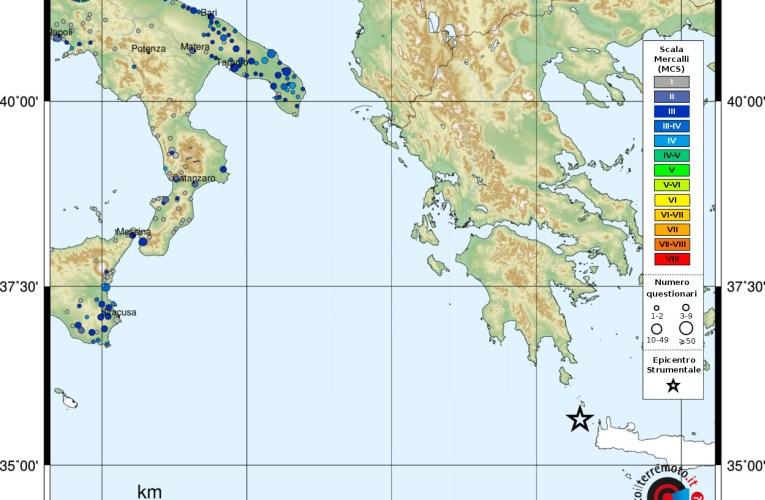 Evento sismico Mw 6.0 a Creta (Grecia)