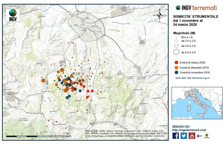 La ripresa dell'attività sismica nel Beneventano
