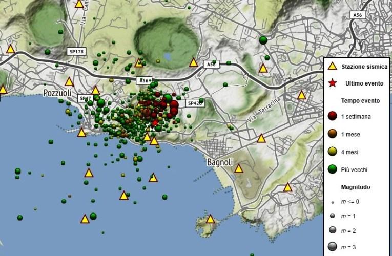 Sciame sismico nella notte in area flegrea (26 aprile 2020)
