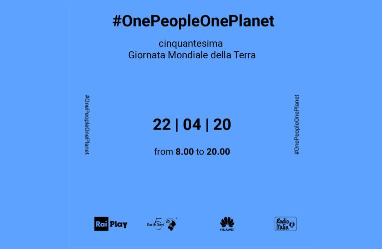 22aprile 2020, #EarthDay2020, l'INGV partecipa alla maratona #OnePeopleOnePlanet