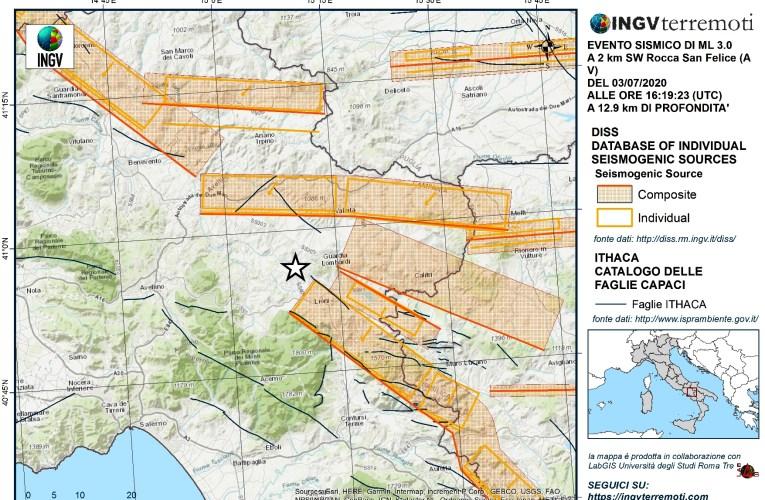 Attività sismica in Alta Irpinia