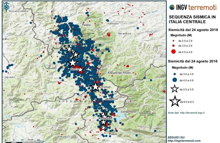 A quattro anni dal terremoto del 24 agosto 2016 in Italia centrale