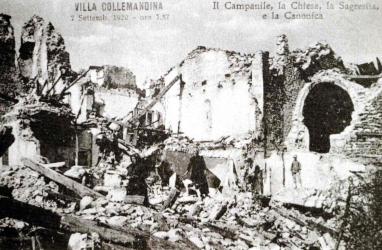 Il centenario del terremoto del 7 settembre 1920 in Garfagnana e Lunigiana