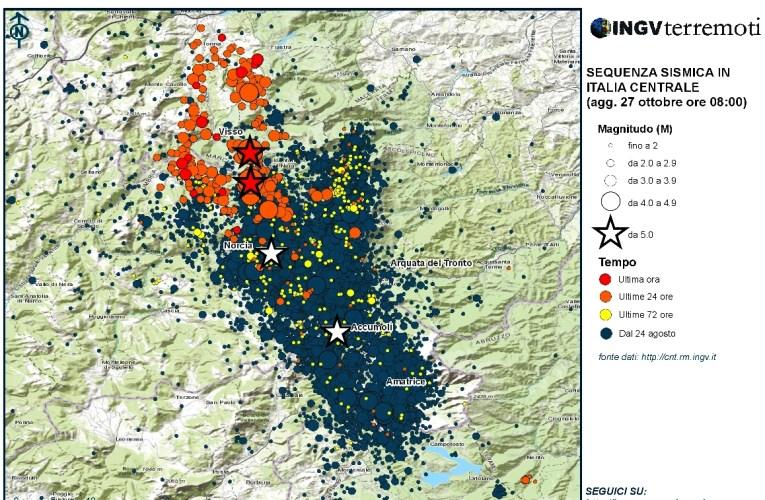 I terremoti del 26 ottobre 2016