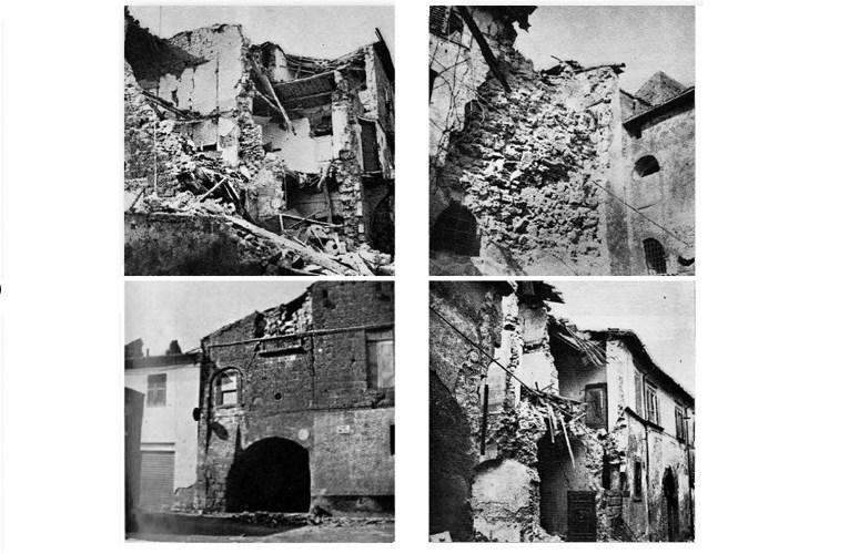 Danni causati dal terremoto del 6 febbraio 1971 a Tuscania (VT).