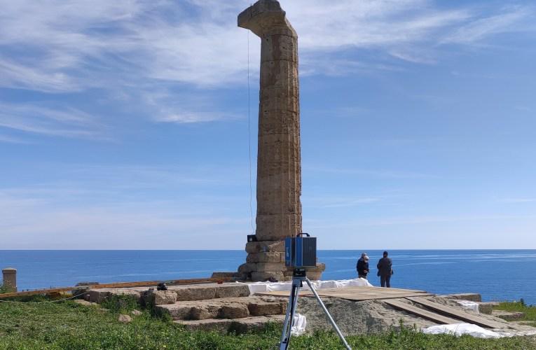 L'INGV partecipa alla campagna educativo-sperimentale nel parco archeologico nazionale di Capo Colonna (Crotone)