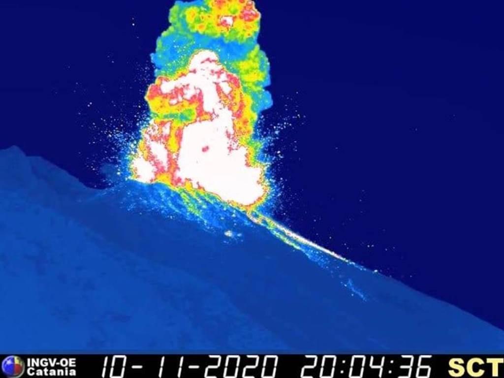 Due esplosioni maggiori a Stromboli, 10 e 16 novembre 2020