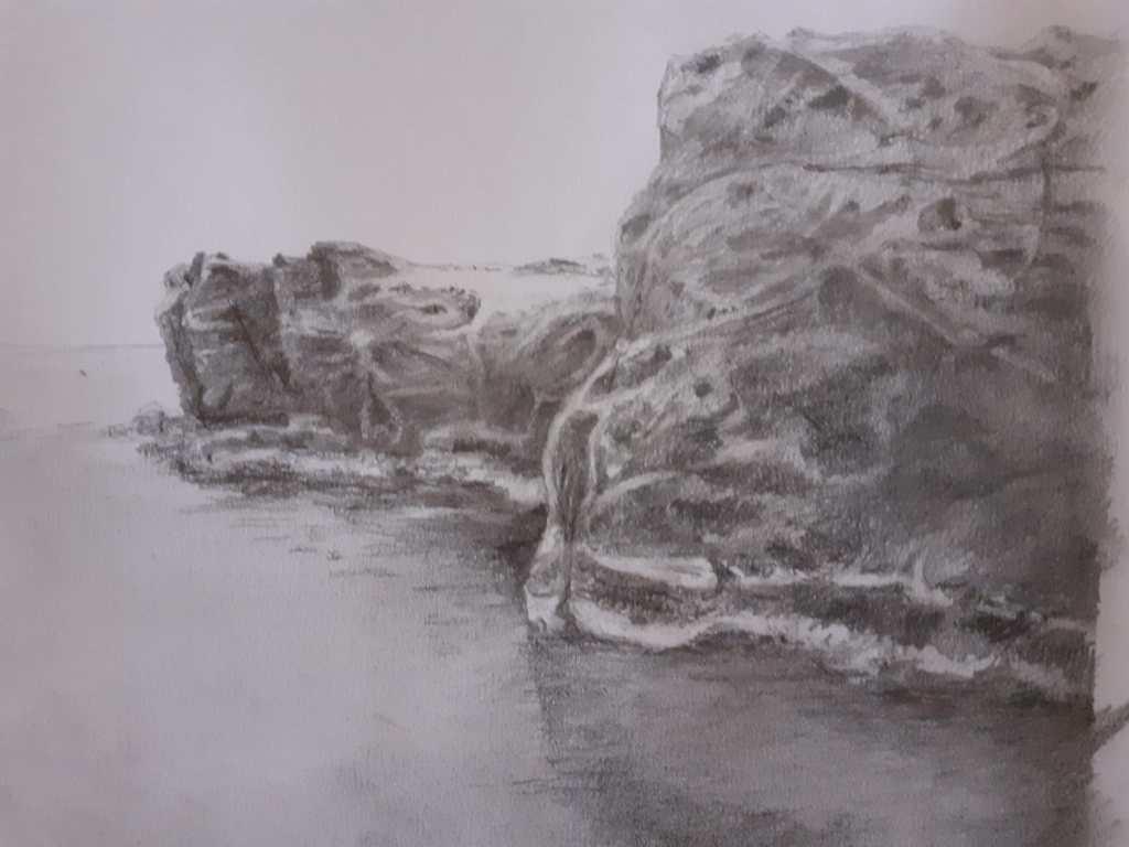 scogliera Pantelleria, disegno di Catherine Lemercier
