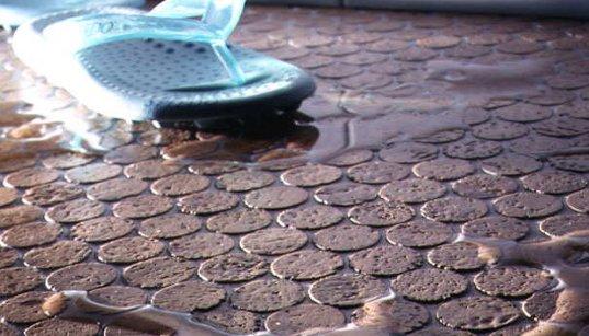 sustainable design, green design, sustainable materials, wine cork, renewable materials, penny flooring, cork floor tiles, Jelinek Cork, recycled materials