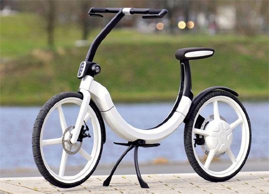 sustainable design, green design, green transportation, volkswagon bik.e, electric bicycle, cycle, folding bike