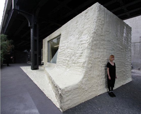 Highline Park, Reuse store, Green retail, New York green store, Bio-based foam wall, Leong Leong, Siki Im Store,