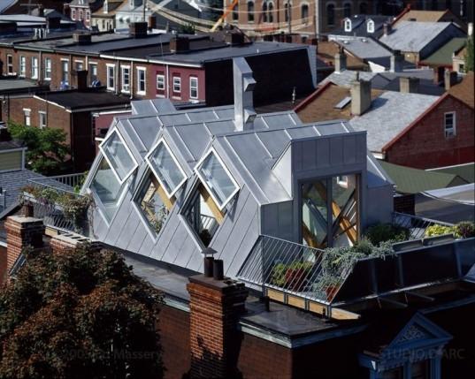 Studio d'ARC, Pittsburg green building, pittsburg green house, biophillic garden, urban green house, rooftop greenhouse, passive solar heating,heat urban snorkel, erv, Energy Recovery Ventilator