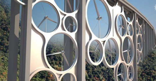 Technology, sustainable architecture, bridges, italy, roads, solar panels, solar roads, wind power, wind turbines, wind energy, solar energy