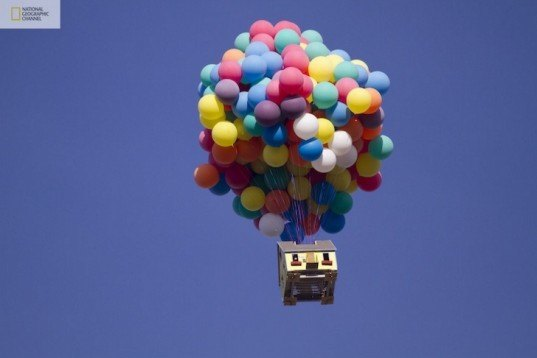 airborne house, balloon home, Balloon Transportation, floating house, How Hard Can It Be?, National Geographic Channel, NGC, Pixar UP House, Real UP house