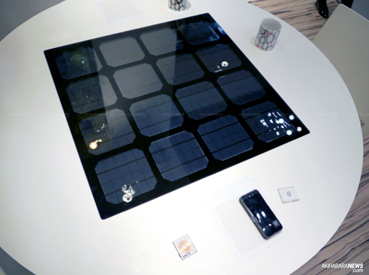 Panasonic, QI, Security Show, Security Show 2011, green energy, sustainable energy, Solar Panel, Solar Table, wireless charging system, Wireless Power, Wireless Power transmission, Wireless Power transmission Pad, solar energy