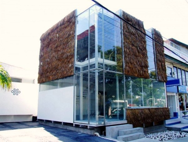 "Partially ""Furry"" Glass Cube Uses Tradition Palapa as a ..."