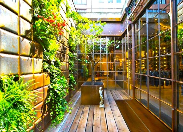 vertical garden in barcelona Two Gorgeous Cascading Vertical Gardens Spruce Up Replay's