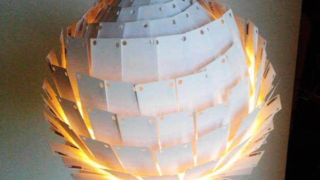 Recycled Last Light Lamp Is Made From 350 Outdated