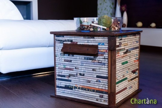 Chartana's Cubox Table Is Built From Salvaged Crates And