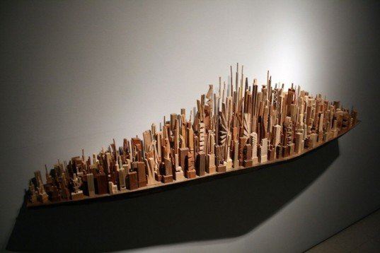 James Mcnabb Transforms Bits Of Scrap Wood Into Intricate Miniature Cityscapes