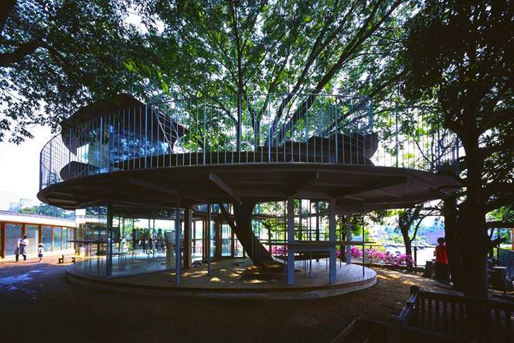 Tezuka Architects Amazing Fuji Kindergarten Wraps Around